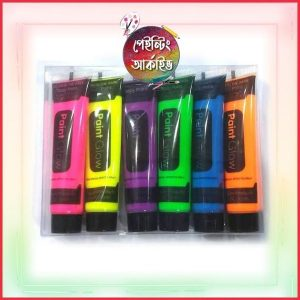 Body Paint glow neon 6 color 1 set