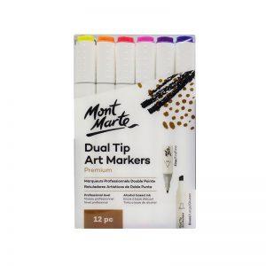 Mont Marte Premium Dual Tip Art Markers 12pc