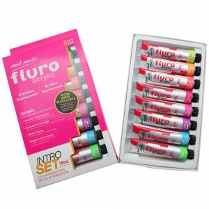 Fluro Acrylic Paint Intro Set 8 Piece