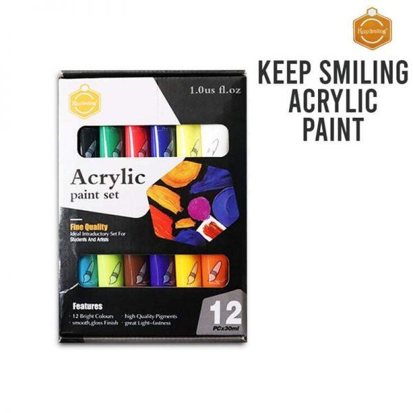 Acrylic paint 12 color 30 ml tube
