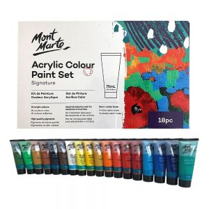 Mont Marte Signature Paint Set - Acrylic Paint 18pc x 75ml Tubes